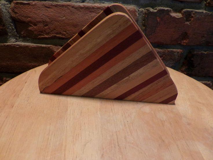Wood napkin holder, wood mail holder, Cabin décor, farmhouse décor by Morethebuckles on Etsy