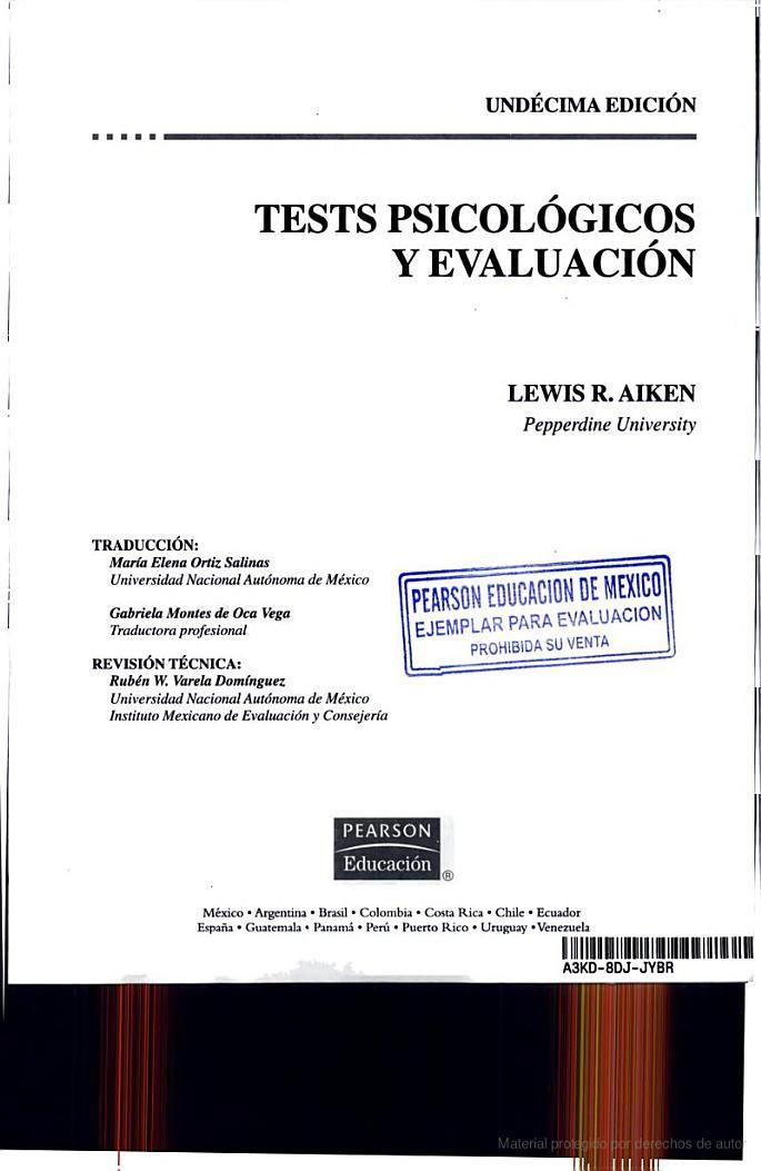 Tests psicológicos y evaluación - Lewis R. Aiken - Google Libros