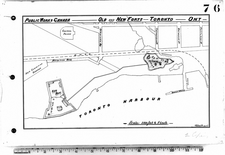 """""""Old and New Forts Toronto"""" (1880), Map & Data Library, University of Toronto Libraries"""