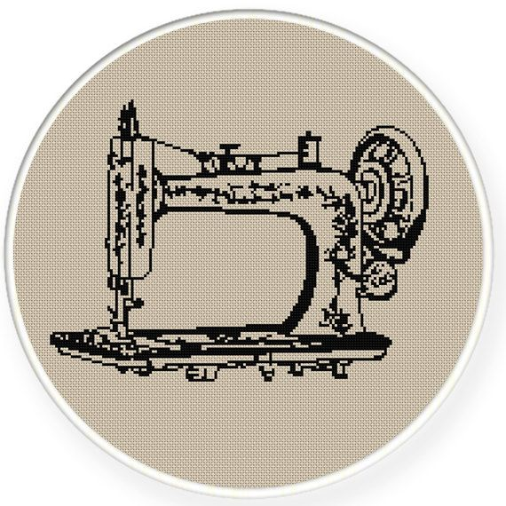 Instant download,free shipping,Cross stitch pattern, Cross-Stitch PDF,vintage sewing machine,zxxc0339 on Etsy, $5.00