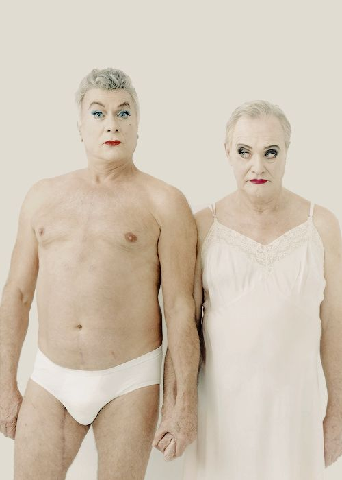 "normajeanebaker: "" Tony Curtis and Jack Lemmon photographed by Annie Leibovitz, 1995 """