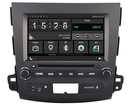 Car dvd Player for Mitsubihi Outlander 06-12/1080P/DVR/3G/WIFI/TPMS/GPS/RADIO/bluetooth/navi Citroen C-Crosser Peugeot 4007