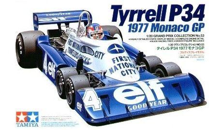 Tamiya - 20053 - Maquette de Voitures / Cars model kits - Tyrell P34 1977 Grand Prix de Monaco - Echelle 1/20