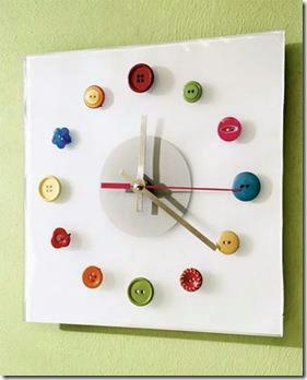 Button clock diy childhood pinterest clocks crafts for Whatever clock diy