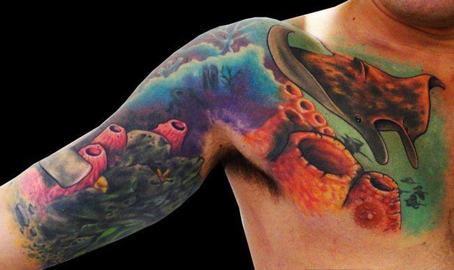 tattoo fundo do mar - Pesquisa Google | Braço Preenchido ...