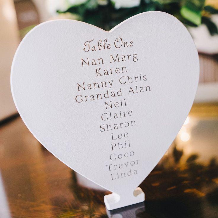 Wedding Table Names Plaque