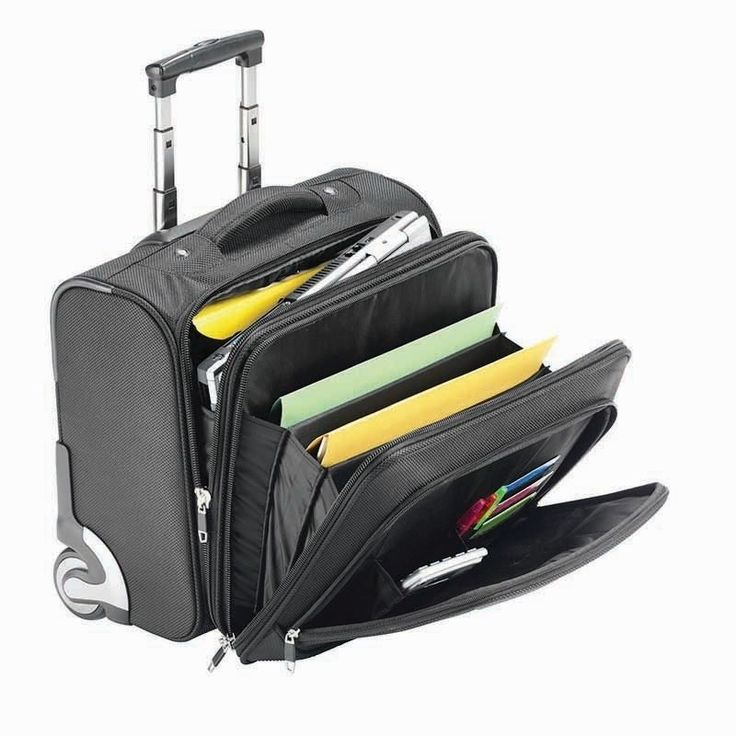 Falcon 16 Inch Mobile Laptop Business Trolley Case Carry handle lockable zips