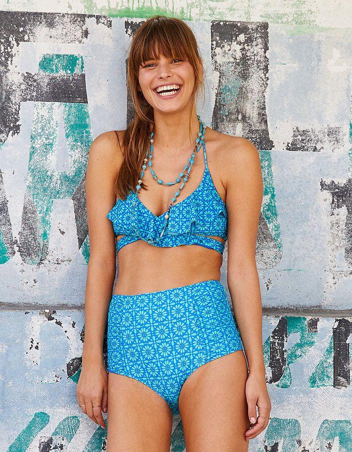 aerie Scoop Ruffle Bikini Top