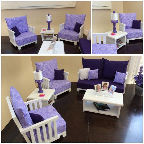 American Girl 5 Piece Living Room Collection By AGsprinkles Part 27