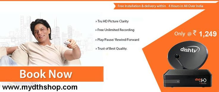 DISH TV TRUE HD BOX + REC WITH 1 MONTH NEW SUPER FAMILY PACK Rs. 1249…