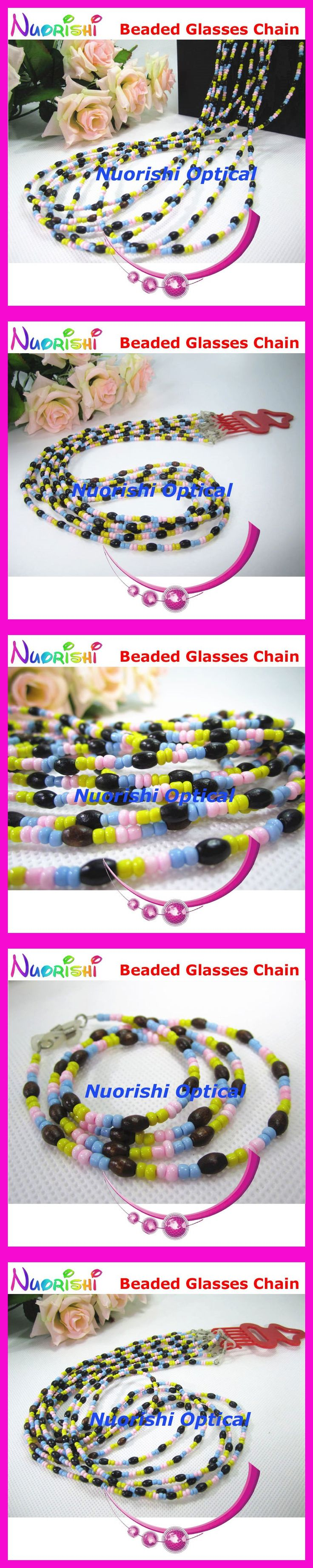 6pcs Nice Beaded Steel Wire Rope Eyeglasses Sunglasses Eyewear Spectacle Chain Cords Lanyard free shipping L843 $9.08