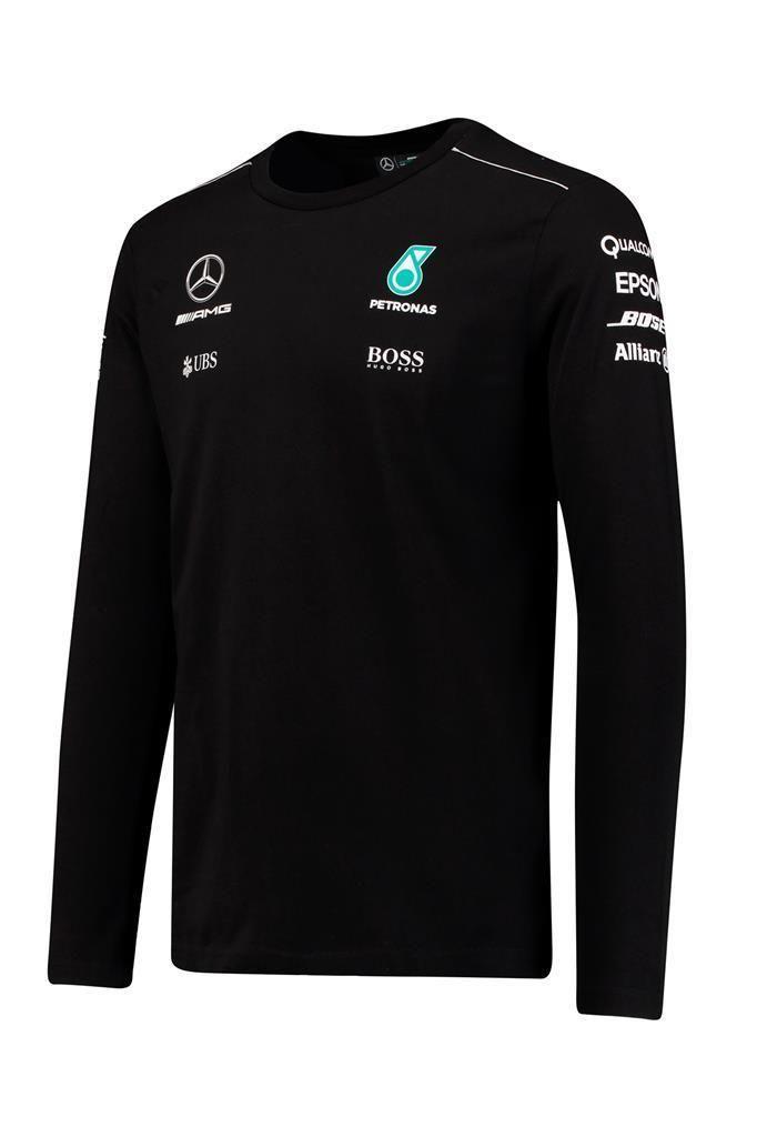 Mercedes Benz Petronas AMG Formula 1 Womens Black Team Logo T-Shirt F1 Mercedes AMG Large