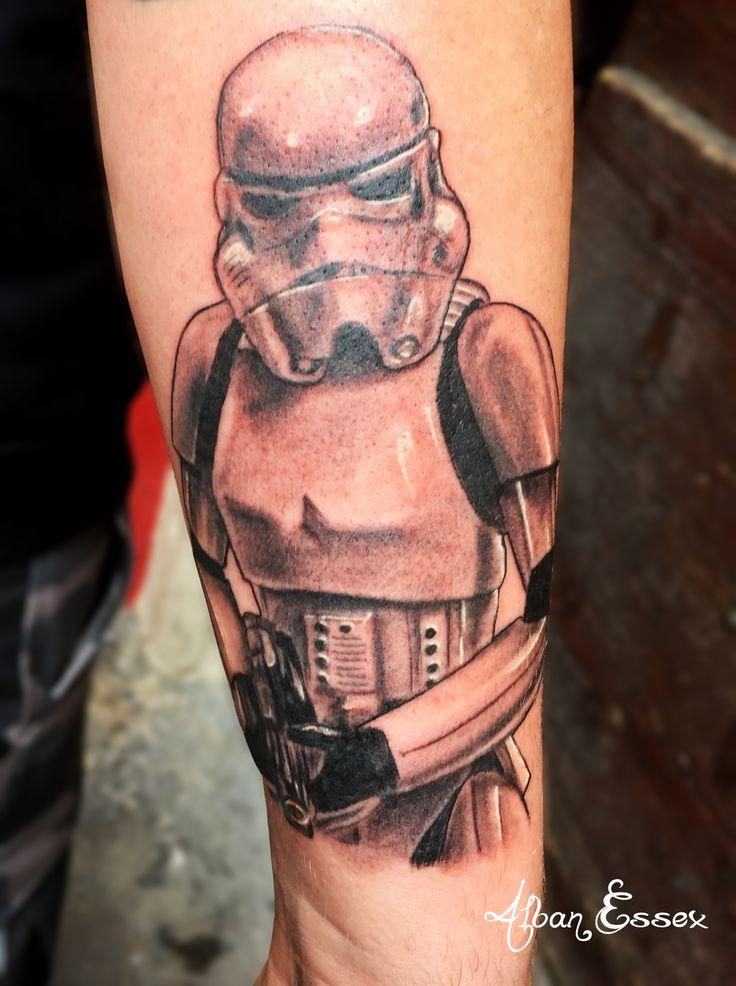 Portrait tattoo tatouage Stormtrooper - Alban Essex
