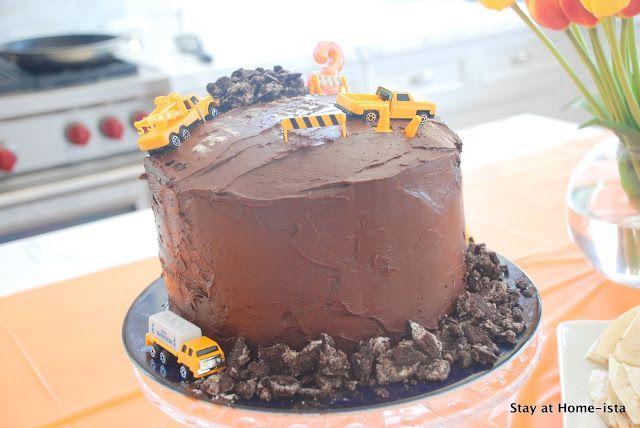 Stay at Home-ista: Construction Machine Birthday Cake Tutorial