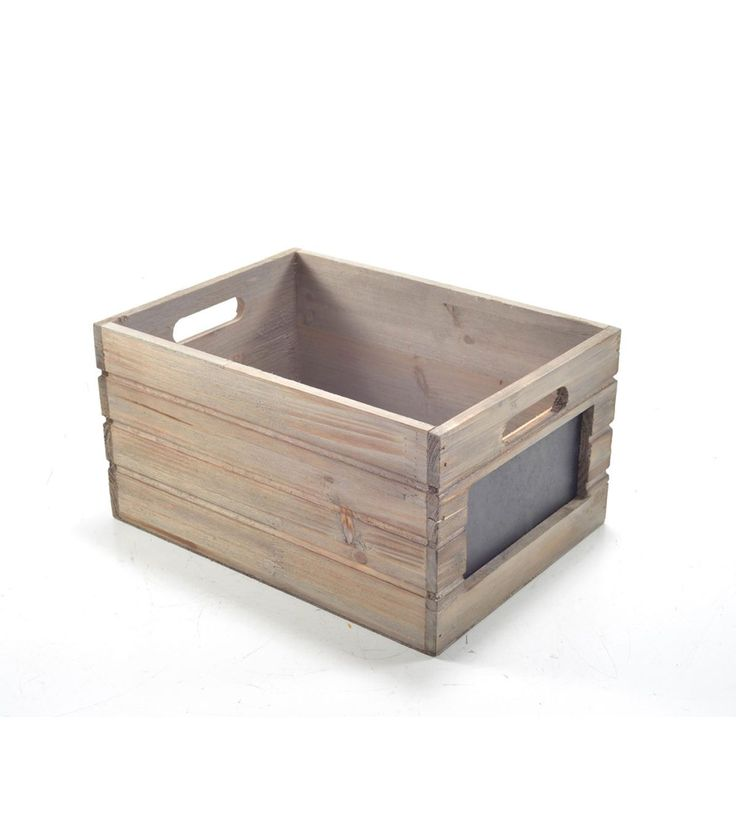 Bloom Room Small Wood Crate With Chalkboard