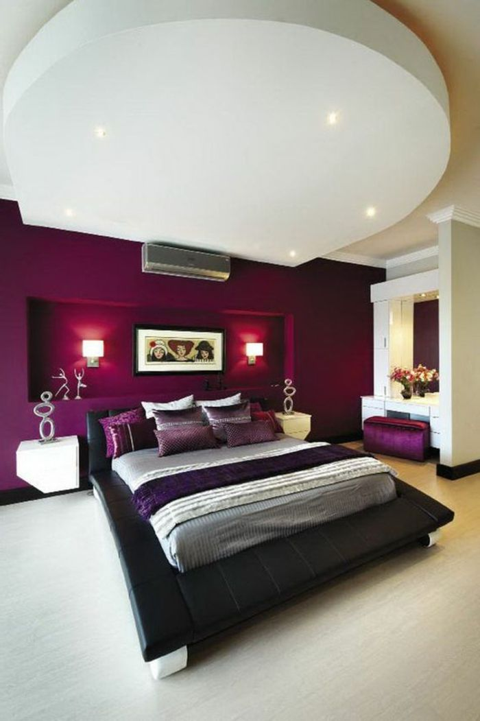 1001 id es comment combiner la couleur aubergine id e - Couleur dans une chambre ...