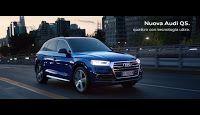 Un sottofondo di musica elettronica del musicista e produttore brasiliano Amon Tobin accompagna le immagini dello spettacolare spot per il lancio della nuova Audi Q5 con tecnologia ultra.