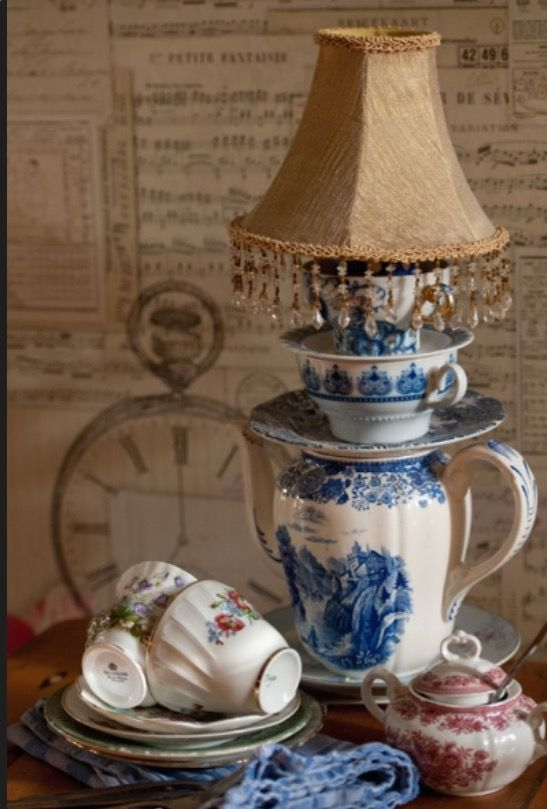 """This amazing lamp is from our feature """"Ina's Cup of Tea"""""""