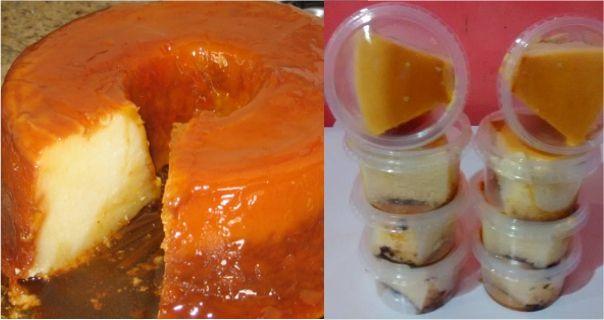Hoe maak Bakery pudding uit een kom