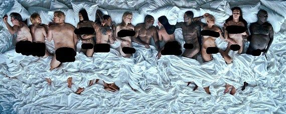 Kanye West Gets Nked with a Fake Taylor Swift Ray J Bill Cosby & More in NSFW Famous Music Video