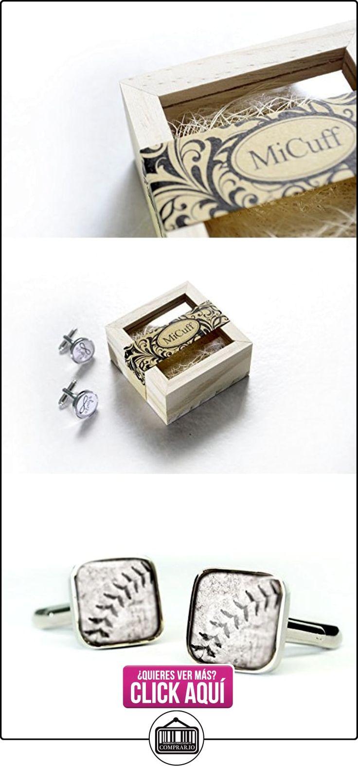 Hecho a mano de béisbol - Gemelos para regalo de boda para novio - Gemelos  ✿ Joyas para niños - Regalos ✿ ▬► Ver oferta: https://comprar.io/goto/B01AL038M0