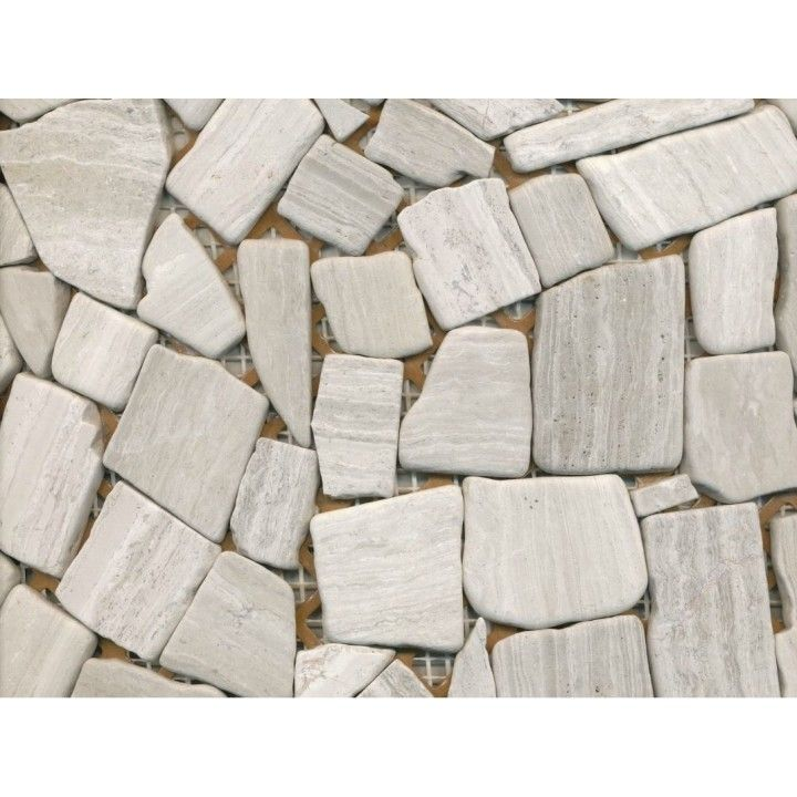 BRUDMOSAIK GRÅ MARMOR 31,5 X 31 CM - Fliser - Byggematerialer - Trælast