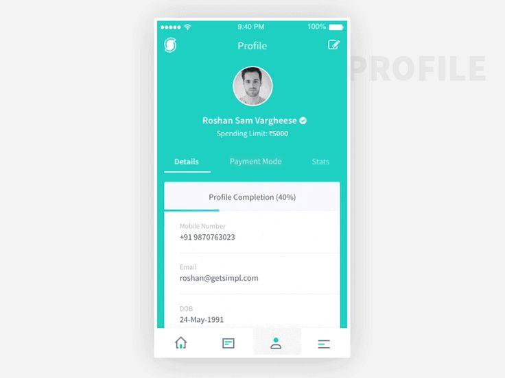 Simpl – User Profile