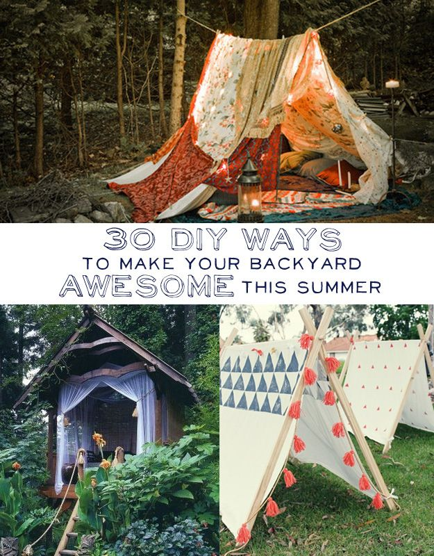 30 DIY Ways To Make Your Backyard Awesome This Summer...and you can practice in my backyard...Twitter Forest!!