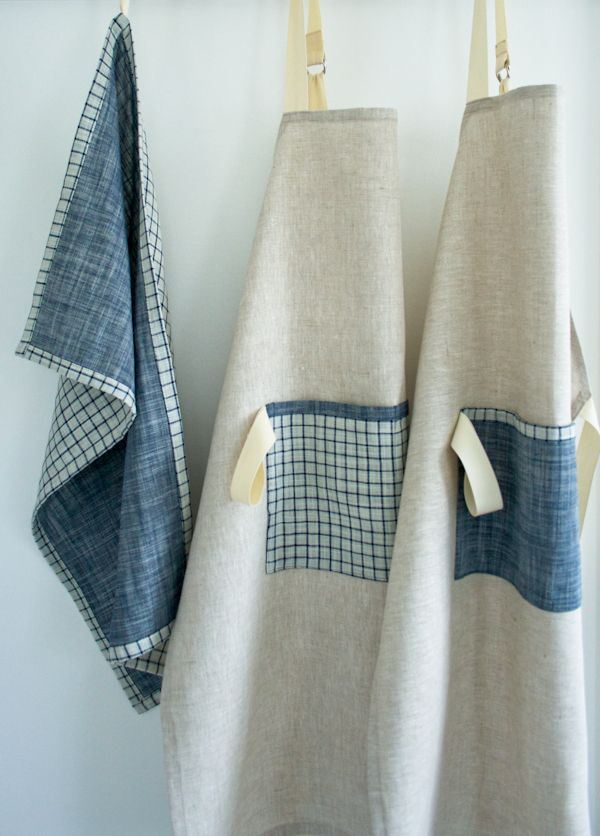 Molly's Sketchbook: Simple Linen Apron