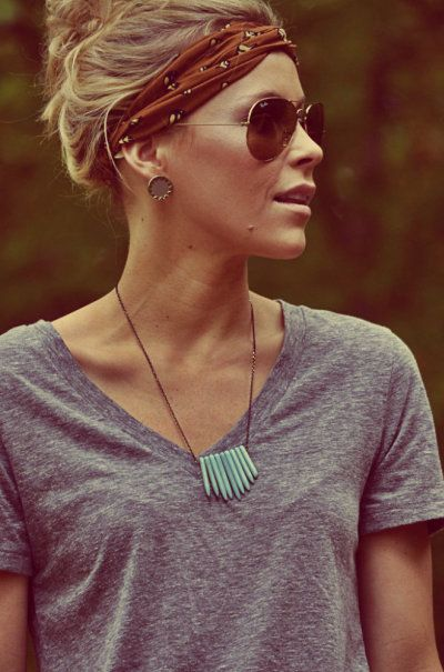 This is a super cute, simple, easy way to put your hair back on those lazy days.