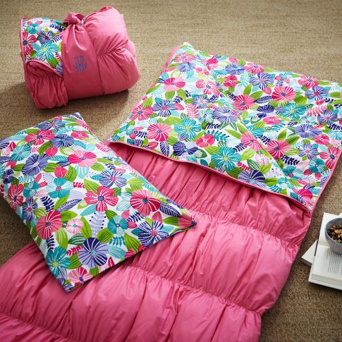 Ruched Sleeping Bag Amp Pillowcase Multi Floral Pbteen