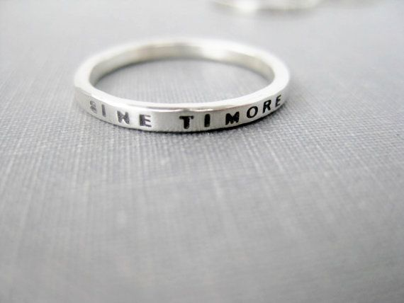 2mm Thick Personalized Ring  Tiny Font by boutonrougedesigns, $36.00