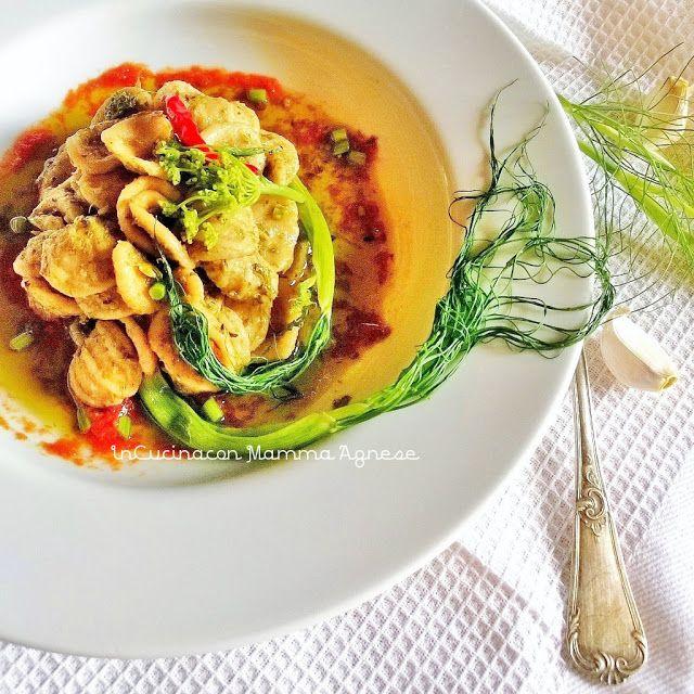 In Cucina con Mamma Agnese: Orecchiette con Orzo condite con Patè di Rape e No...