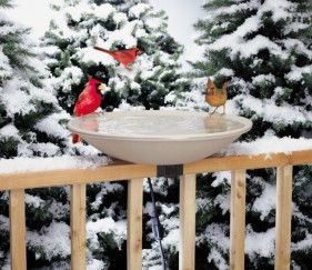 """HB650  20"""" Heated w/ EZ Tilt mount to clean. 150 Watts, 120Volts. Deck mounting hardware incl. Ice free water all winter. Heating element is hidden beneath. 20"""" diameter, 2"""" depth. Year round use. Mounts to 2x4"""" rail or 2x6"""""""