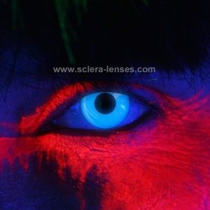 Glow Blue UV Contact Lenses
