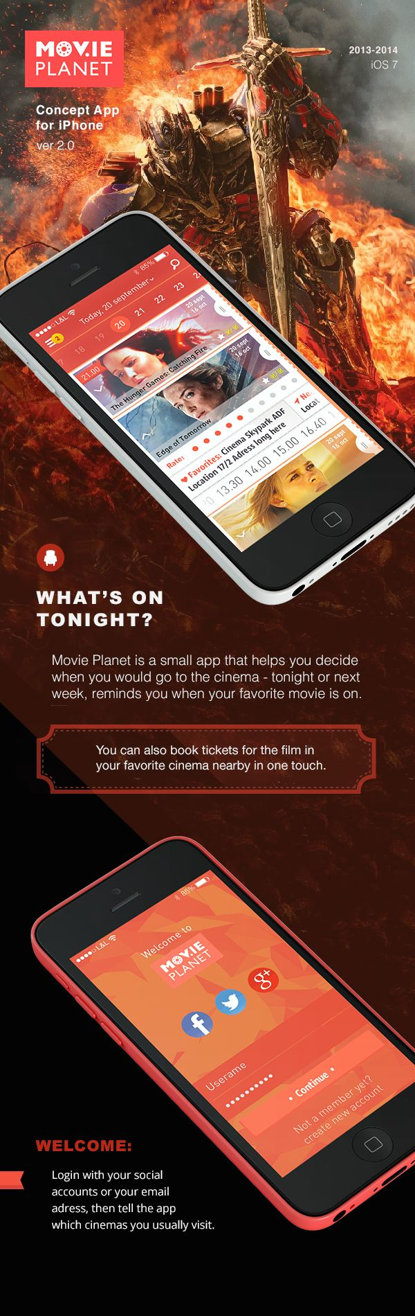 """Movie Planet"" app for iPhone on Behance"
