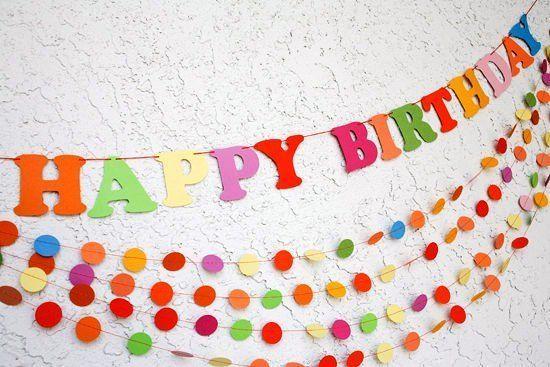 С днем рождения своими руками на стену