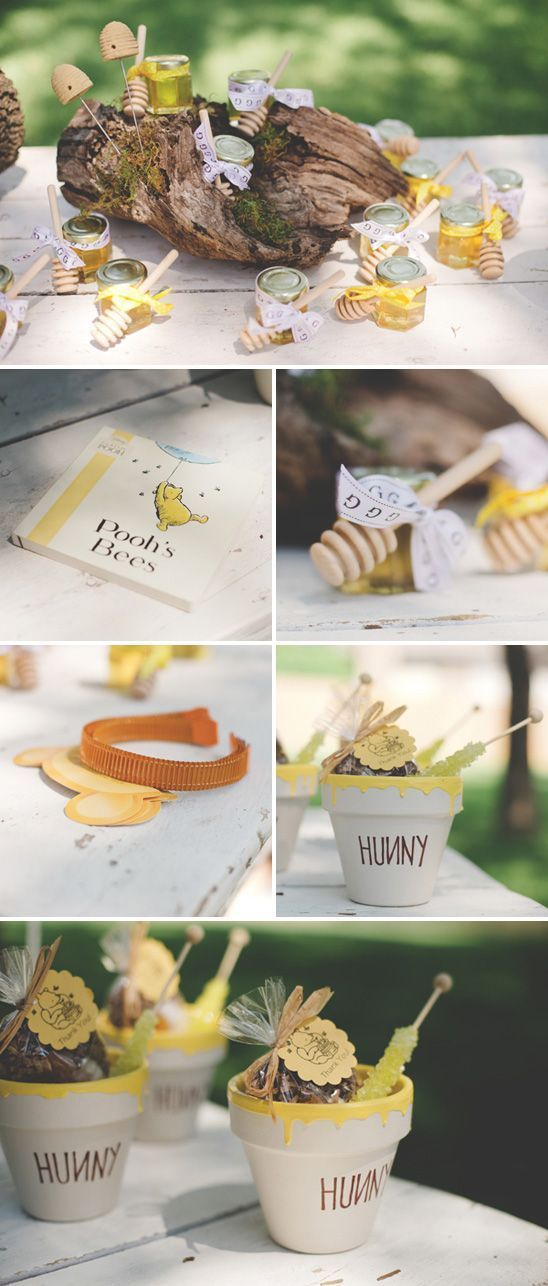 Storybook inspired Winnie the Pooh 1st birthday party