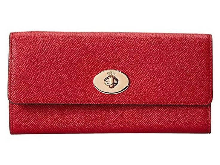 Coach Embossed Textured Slim Envelope with Pop-Up Pouch 52345