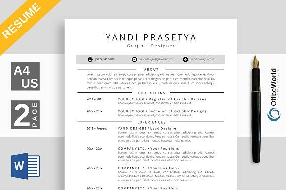 Resume with colorful ornamet Resume architecture, Unique resume - resume social media
