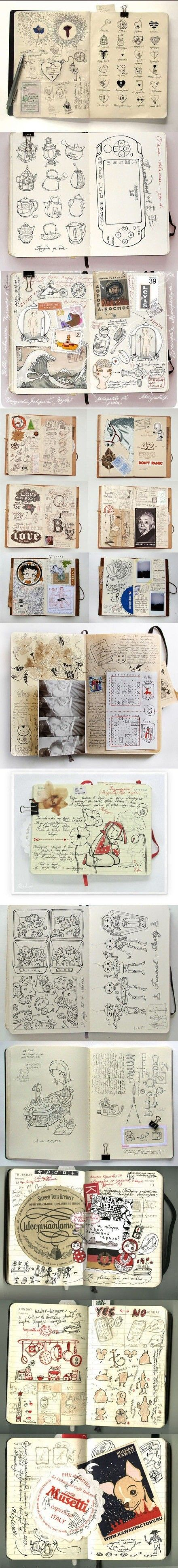 Keep a journal. I usually take my old journals, cut them apart, and repurpose them in my new journals. Life is made of cycles. So my journals are cyclical. I like this messy journal.: