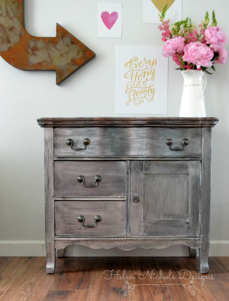 paint effects for furniture. zinc metallic washstand makeover with pearl effects by helen nichole designs paint for furniture e