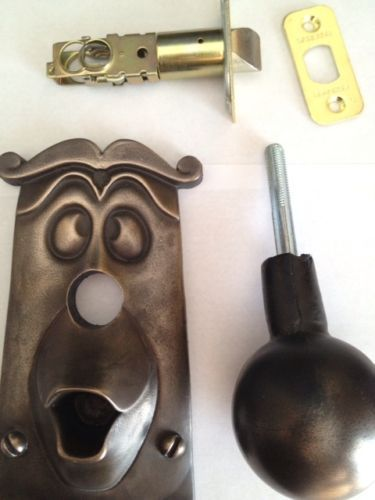 BRONZE Alice in Wonderland real Door Knob Disney Disneyland movie Prop replica