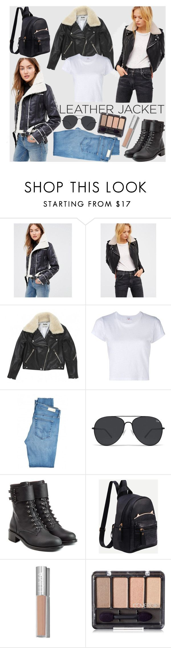 """""""Aviator jacket"""" by hereisalessia ❤ liked on Polyvore featuring Brave Soul, Free People, Acne Studios, RE/DONE, AG Adriano Goldschmied and Philosophy di Lorenzo Serafini"""