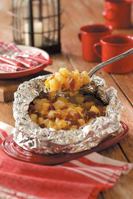 Three Cheese Potatoes Recipe from Taste of Home