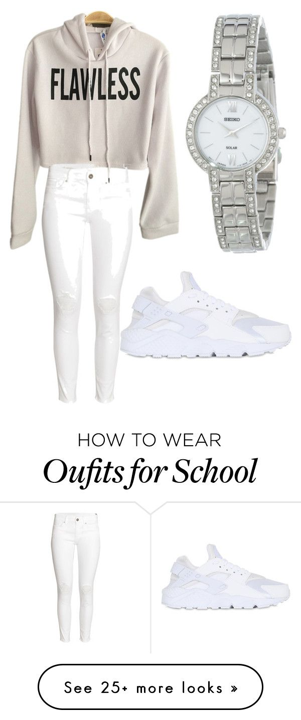 """School flow"" by sarina-thomas15 on Polyvore featuring H&M, Seiko and NIKE"