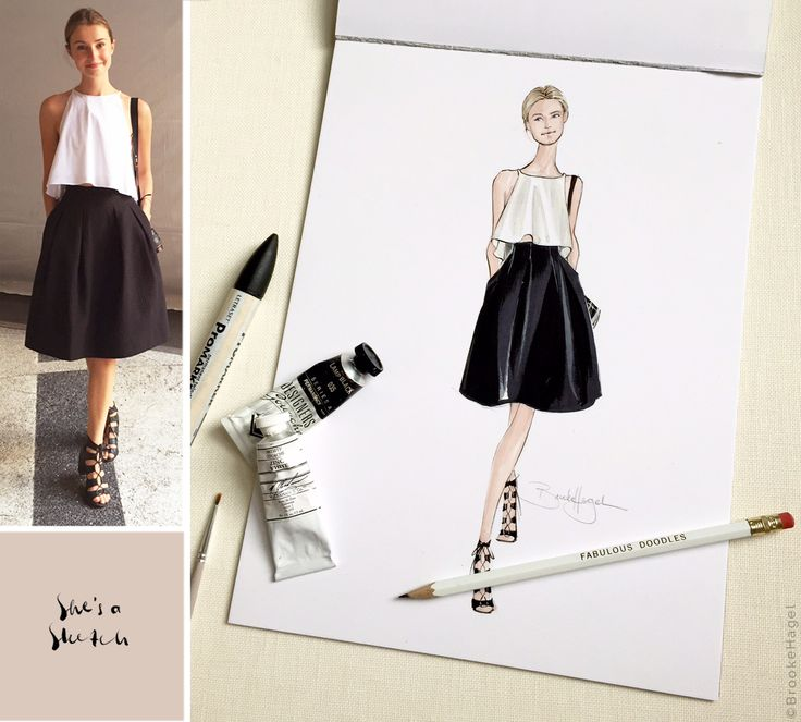 Fabulous Doodles Fashion Illustration blog by Brooke Hagel: She's a Sketch: Photographer Illustration