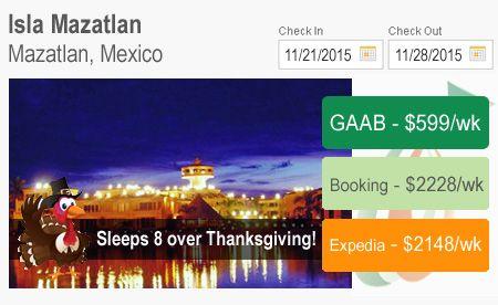 07-16-2015 - Travel Alert - Sleeps 8 over Thanksgiving