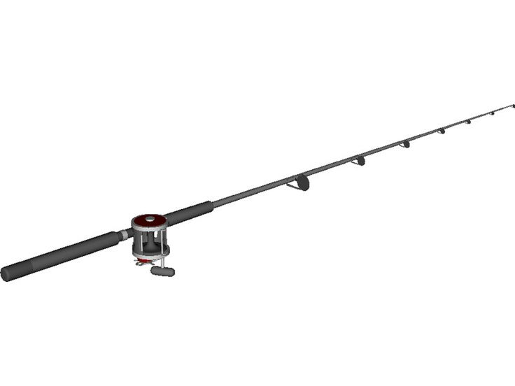 Penn deep sea fishing rod reel combo 3d model catfishing for Most expensive fishing rod