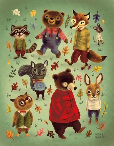 Herbst-Tierchen